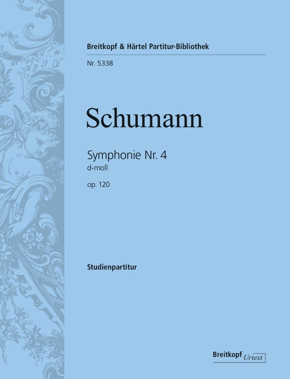 Symphonie N° 4 en Ré Min. Op. 120 - SCHUMANN - laflutedepan.com