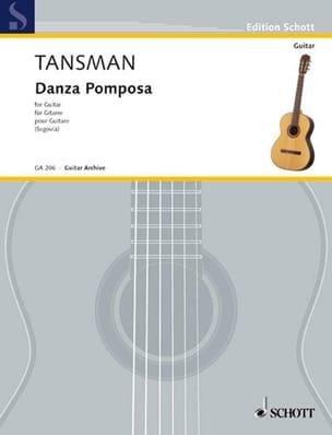 Danza Pomposa Alexandre Tansman Partition Guitare - laflutedepan