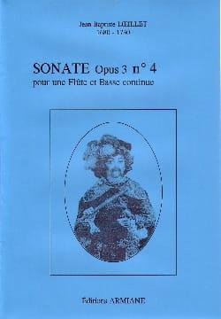 Sonate Opus 3 N° 4 LOEILLET Partition Flûte traversière - laflutedepan