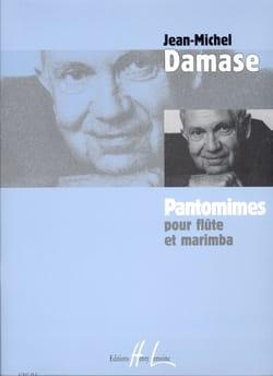 Pantomimes - Flûte marimba Jean-Michel Damase Partition laflutedepan