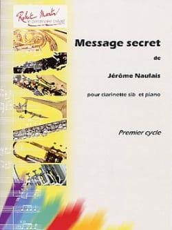 Message secret Jérôme Naulais Partition Clarinette - laflutedepan