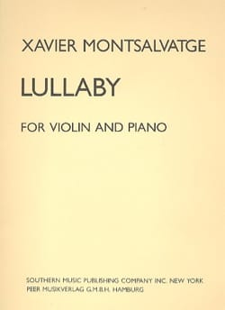 Lullaby Xavier Montsalvatge Partition Violon - laflutedepan