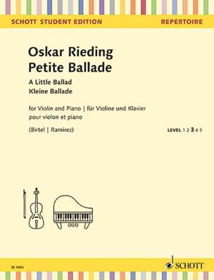 Petite Ballade - Violon et Piano - Oskar Rieding - laflutedepan.com