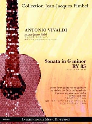 Sonata in G minor RV 85 VIVALDI Partition Guitare - laflutedepan