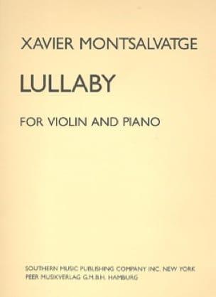 Lullaby - Xavier Montsalvatge - Partition - Violon - laflutedepan.com