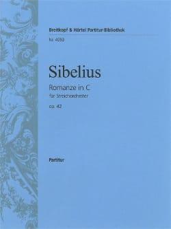 Romanze C-Dur op. 42 - Partitur SIBELIUS Partition laflutedepan