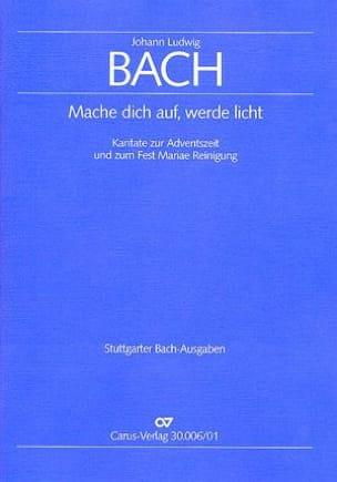Mache dich auf, werde licht Johann Ludwig Bach Partition laflutedepan