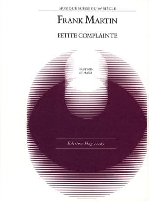 Petite Complainte Frank Martin Partition Hautbois - laflutedepan
