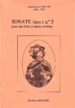 Sonate Opus 3 N° 5 LOEILLET Partition Flûte traversière - laflutedepan