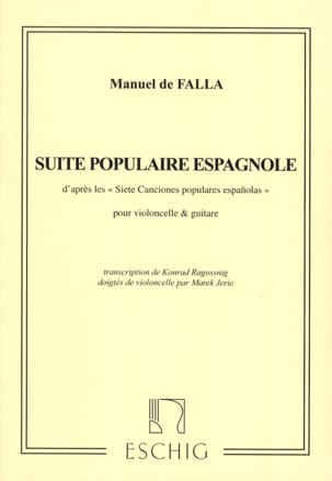 Suite Populaire Espagnole - Cello Guitare DE FALLA laflutedepan