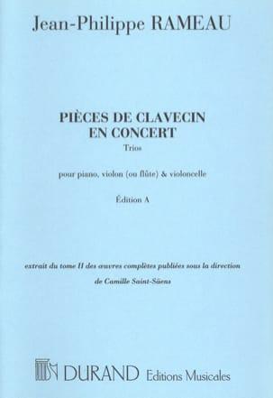 Pièces de Clavecin en Concert RAMEAU Partition Trios - laflutedepan