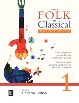From Folk to Classical Vol. 1 Partition Guitare - laflutedepan