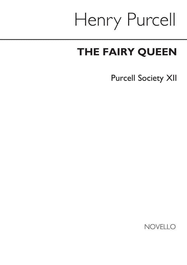 The Fairy Queen -Score - PURCELL - Partition - laflutedepan.com