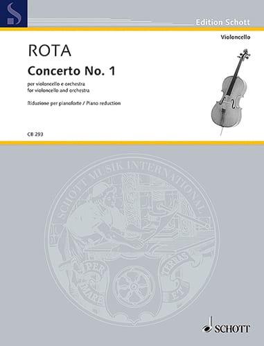 Concerto n° 1 - Violoncelle et Piano - ROTA - laflutedepan.com