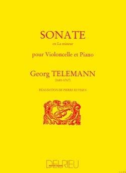 Sonate en la mineur TELEMANN Partition Violoncelle - laflutedepan