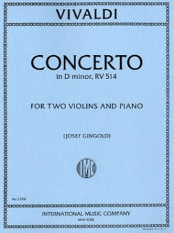 Concerto in D minor RV 514 -2 Violins piano VIVALDI laflutedepan