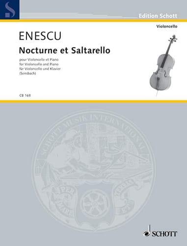 Nocturne et Saltarello - Violoncelle - ENESCO - laflutedepan.com