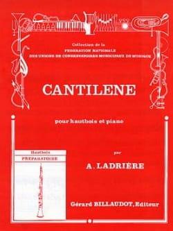 Cantilène Alain Ladrière Partition Hautbois - laflutedepan
