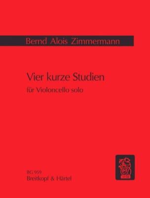 Vier kurze Studien Bernd Alois Zimmermann Partition laflutedepan