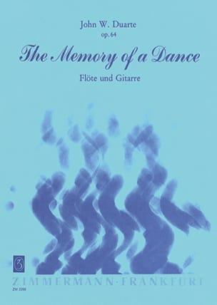 The Memory of a Dance op. 64 John W. Duarte Partition laflutedepan