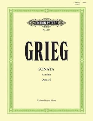 Sonate en la mineur op. 36 GRIEG Partition Violoncelle - laflutedepan