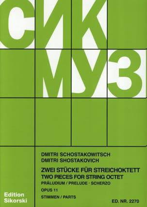 Präludium und Scherzo für Streichoktett op. 11 -Stimmen laflutedepan