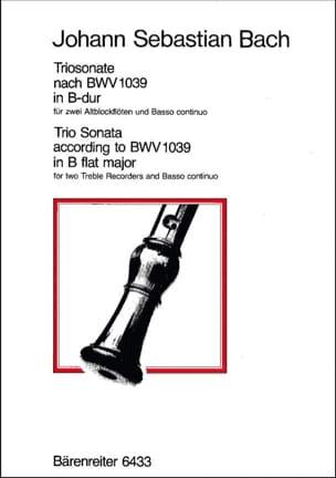 Triosonate B-Dur nach BWV 1039 - 2 Altblockflöten Bc - laflutedepan.com