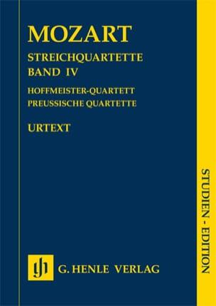 Quatuors à cordes, volume IV - MOZART - Partition - laflutedepan.com