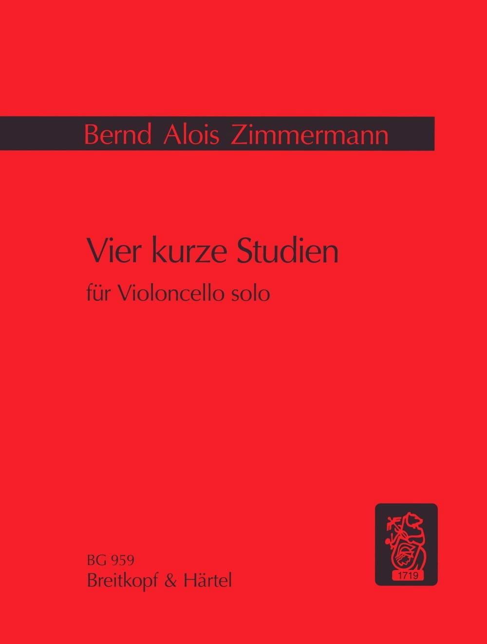 Vier kurze Studien - Bernd Alois Zimmermann - laflutedepan.com