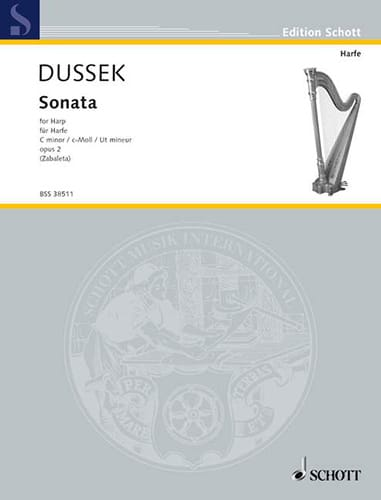 Sonate en Ut Mineur - Harpe - Johann L. Dussek - laflutedepan.be