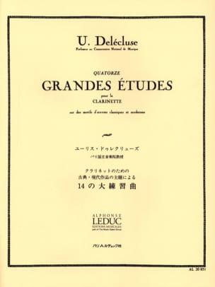 14 Grandes Etudes Ulysse Delécluse Partition Clarinette - laflutedepan