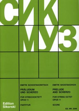 Präludium und Scherzo für Streichoktett op. 11 -Partitur laflutedepan