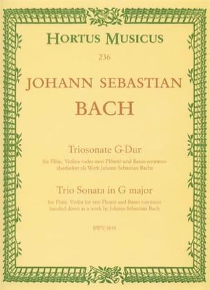 Triosonate G-Dur BWV 1038 - Flöte Violine o. 2 Flöten u. Bc laflutedepan