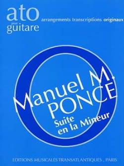 Suite en la mineur pour guitare Manuel Maria Ponce laflutedepan