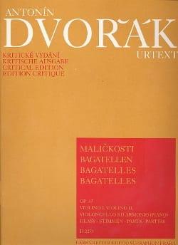Bagatelles op. 47 -parties DVORAK Partition Quatuors - laflutedepan