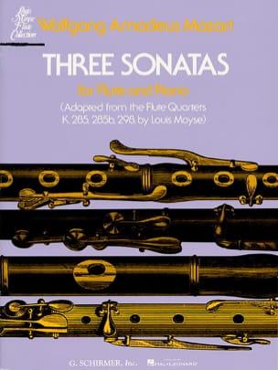 3 Sonates - Flûte piano MOZART Partition laflutedepan