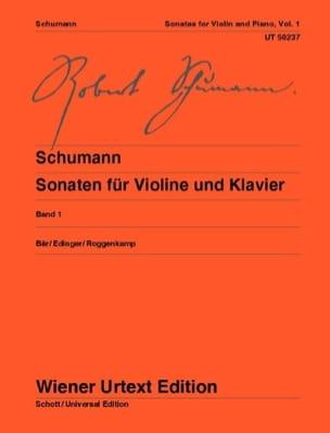 Sonates pour violon et piano - Volume 1 SCHUMANN laflutedepan