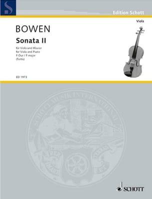 Sonate N° 2 en Fa Majeur Edwin York Bowen Partition laflutedepan