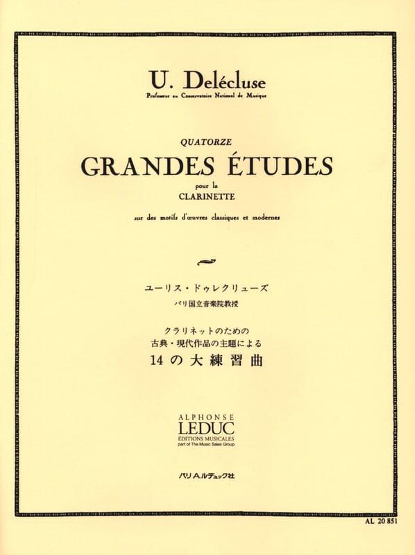 14 Grandes Etudes - Ulysse Delécluse - Partition - laflutedepan.com