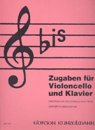 Bis pour Violoncelle - Werner Thomas-Mifune - laflutedepan.com