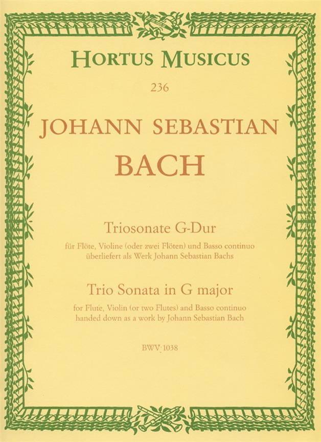 Triosonate G-Dur BWV 1038 - Flöte Violine o. 2 Flöten u. Bc - laflutedepan.com