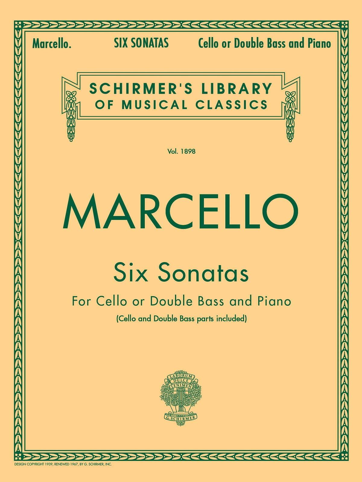 6 Sonates - Benedetto Marcello - Partition - laflutedepan.com