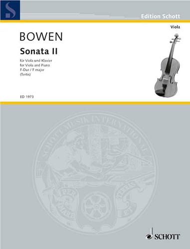 Sonate N° 2 en Fa Majeur - Edwin York Bowen - laflutedepan.com