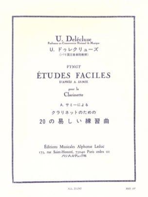 20 Etudes faciles Ulysse Delecluse Partition Clarinette - laflutedepan