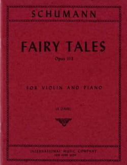 Fairy Tales op. 113 - Violin SCHUMANN Partition Violon - laflutedepan