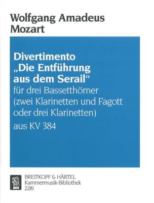 Divertimento Die Entführung aus dem Serail -3 Bassetthörner 2 Kl. Fag./3Kl. laflutedepan