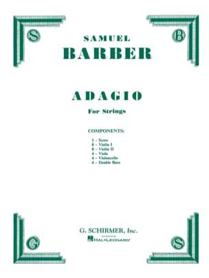 Adagio Pour Cordes - Set Complet BARBER Partition laflutedepan