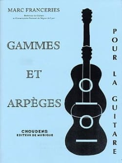 Gammes et arpèges pour la guitare Marc Franceries laflutedepan