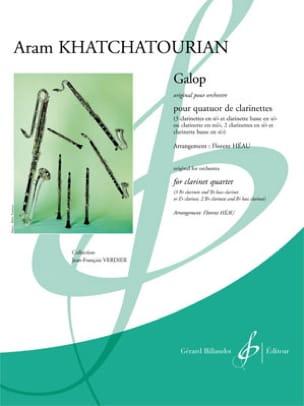 Galop - 4 Clarinettes KHATCHATURIAN Partition laflutedepan