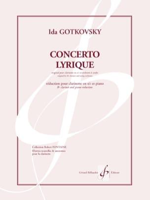 Concerto lyrique Ida Gotkovsky Partition Clarinette - laflutedepan